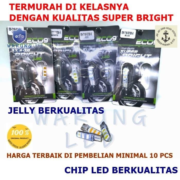 Foto Produk Lampu LED T10 6 MATA ECO9 Senja Sign Sein Lampu Plat Mundur BRIGht SET - Putih dari WARUNG_LED