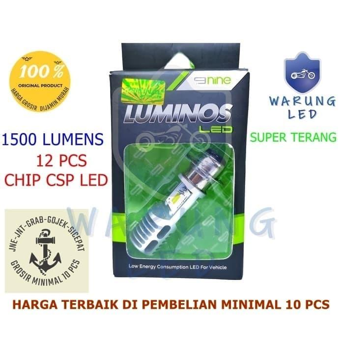 Foto Produk Lampu Led Motor Original Luminos Bebek Matik Beat Vario H6 AC DC dari WARUNG_LED