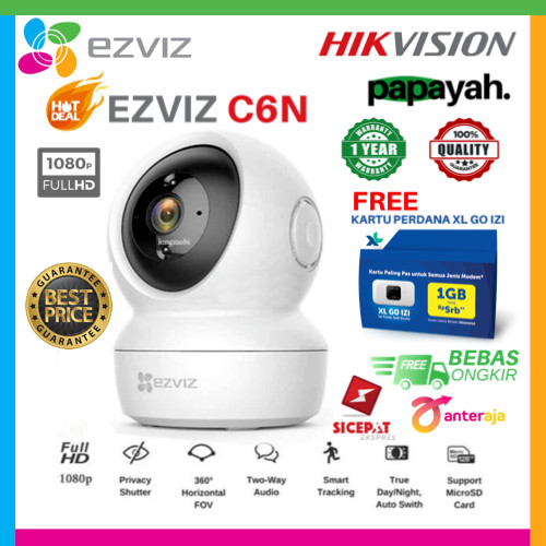 Foto Produk EZVIZ C6N WIRELESS IP CAM 1080P SMART IR NIGHT VISION PENGGANTI C6CN - C6N dari Papayah