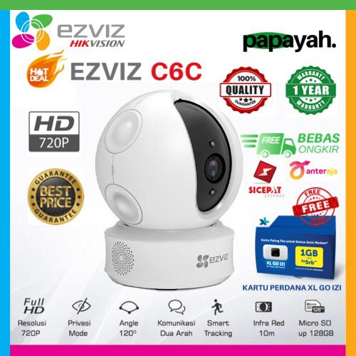 Foto Produk EZVIZ C6C 720P INDOOR SMART WIFI IP CAMERA - C6C dari Papayah