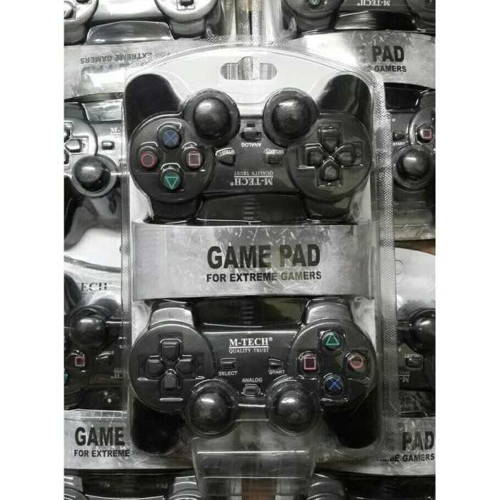 Foto Produk stik pc / gamepad usb double hitam kualitas super dari MULTI KOMPUTER