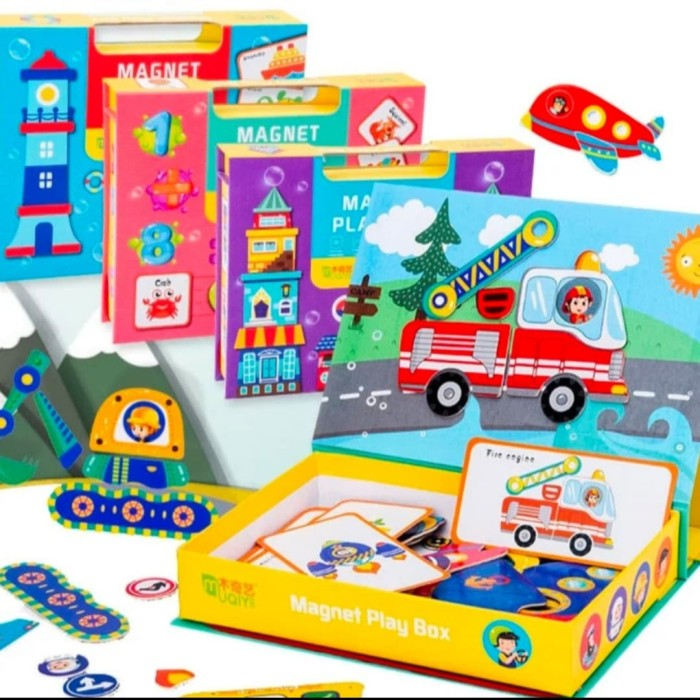 Foto Produk Mainan Anak new Kotak Magnet/Playbox Magnetic - Vehicle dari AUTO KID II