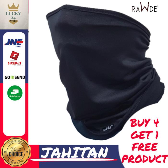Foto Produk Masker Rawde Headwear Sepeda Motor Balaclava Hitam Kain Bandana Keren - Rawde Blackbuff dari Toko Lucky24