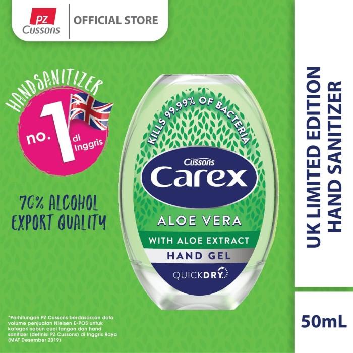 Foto Produk Carex Hand Gel UK Aloe Vera 50ml dari Cussons Official Store