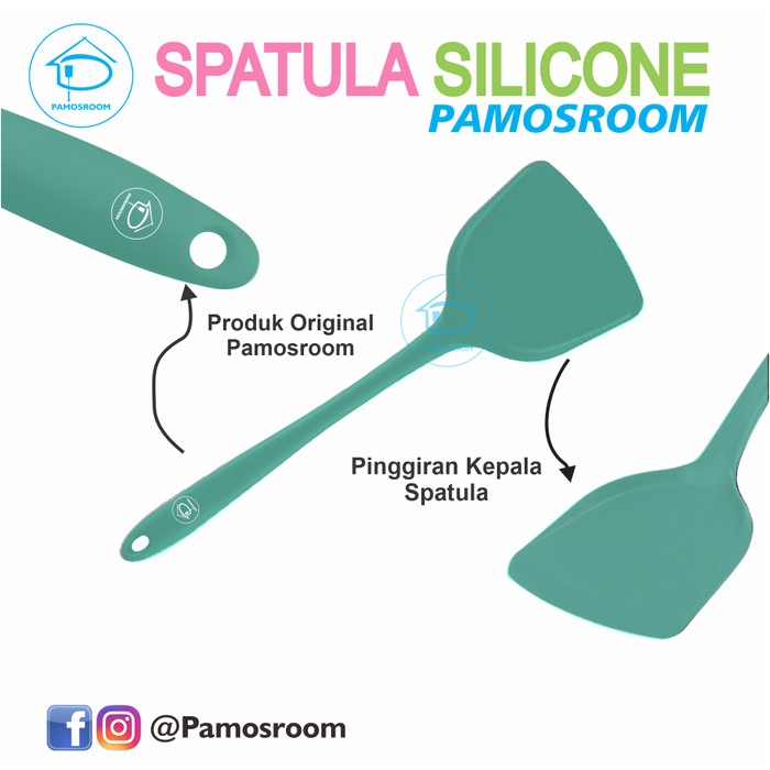 Foto Produk Pamosroom Spatula Sodet Shovel Silicone 33cm Sutil Silikon Tahan Panas - Hijau dari Pamosroom Living