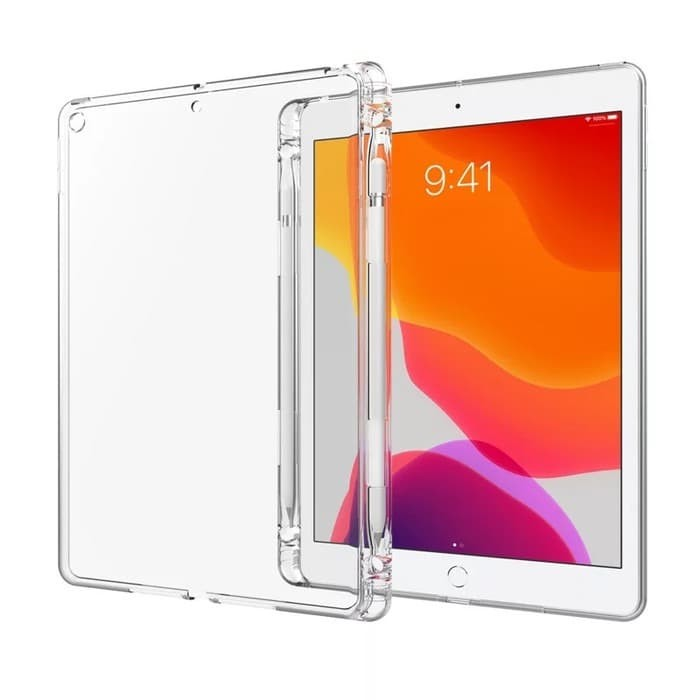 Foto Produk ipad 7| Softcase Silicone Case With Pencil Holder -Clear dari AnCia