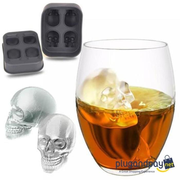 Foto Produk Cetakan Es Batu / Puding / Makanan Model Tengkorak Skull dari plugandpay