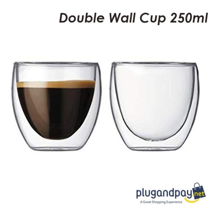 Foto Produk Gelas Kopi Teh Mug Double Wall Anti Panas Insulated Cup 200ml- dari plugandpay