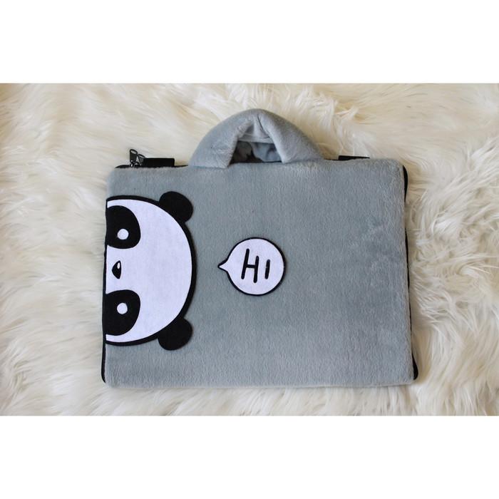 Foto Produk Tas Laptop Panda Hi Abu Tipis 10-17 Inch Softcase Animasi Lucu - 10 Inch dari FaryuzFamouz-Softcase