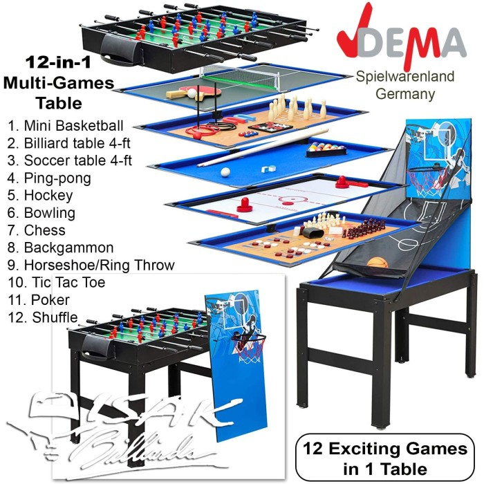 Foto Produk Multi 12-in-1 Game Table - Basketball Meja Billiard Soccer Mainan Anak dari ISAK Billiard Sport Co.