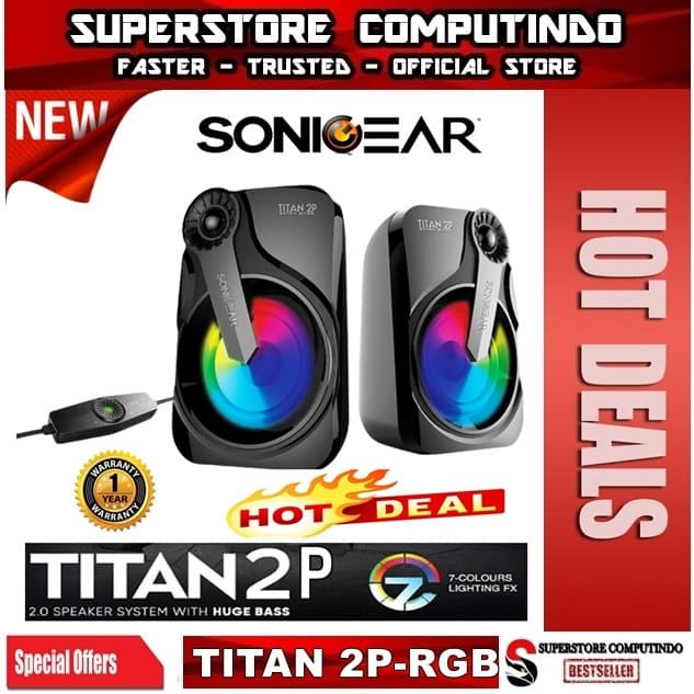 Foto Produk Sonicgear Titan 2. Speaker System With Huge Bass and 7 Color Lighting dari SuperStore Computindo