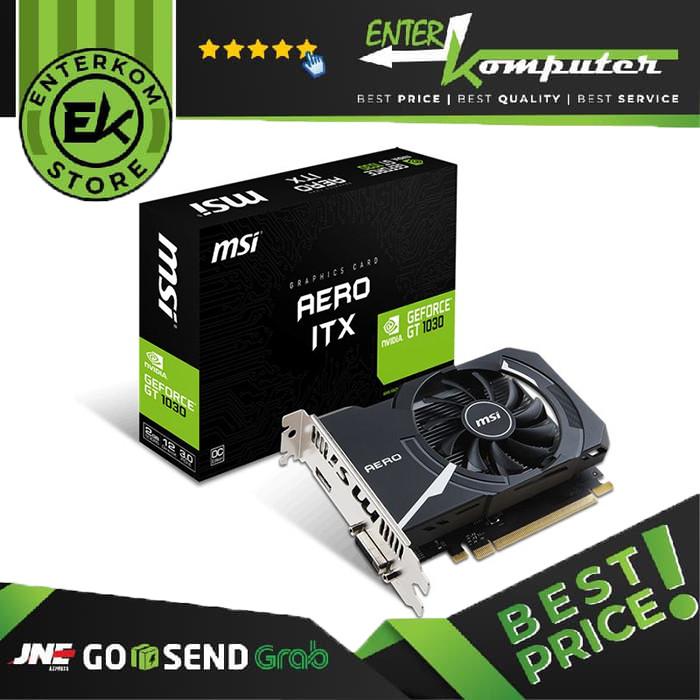 Foto Produk MSI GeForce GT 1030 2GB DDR5 - AERO ITX 2G OC dari Enter Komputer Official