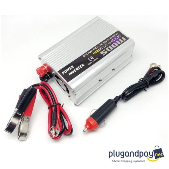 Foto Produk Car Power Inverter DC 12V to AC 220V 500W dari plugandpay