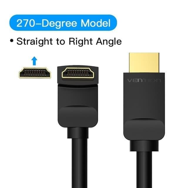 Foto Produk Vention 3M HDMI v2.0 Cable 90/270 Degree 4K High-Speed dari XLink Semarang