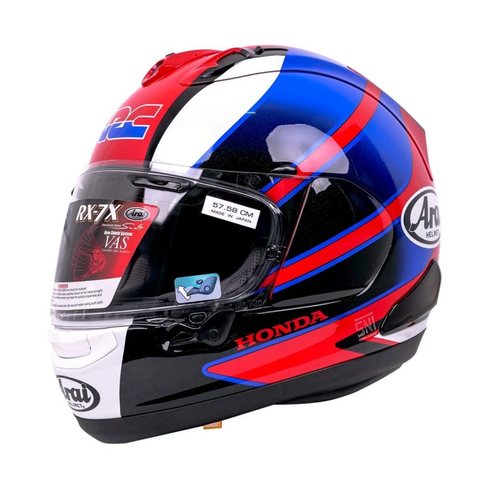 Foto Produk Arai SNI RX7X CBR Helm Full Face - Red Blue - XL dari Arai Indonesia