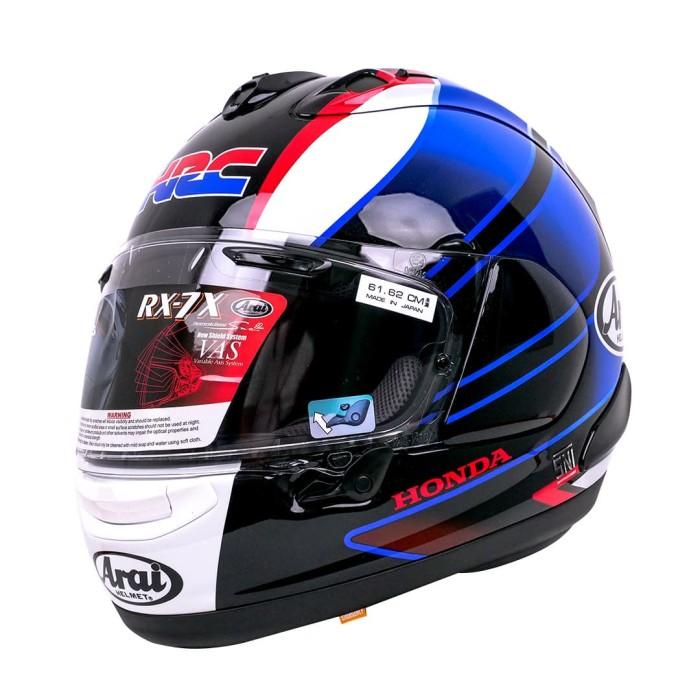 Foto Produk Arai SNI RX7X CBR Helm Full Face - Black Blue - XL dari Arai Indonesia