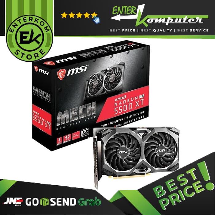 Foto Produk MSI Radeon RX 5500 XT 8GB DDR6 - MECH OC dari Enter Komputer Official