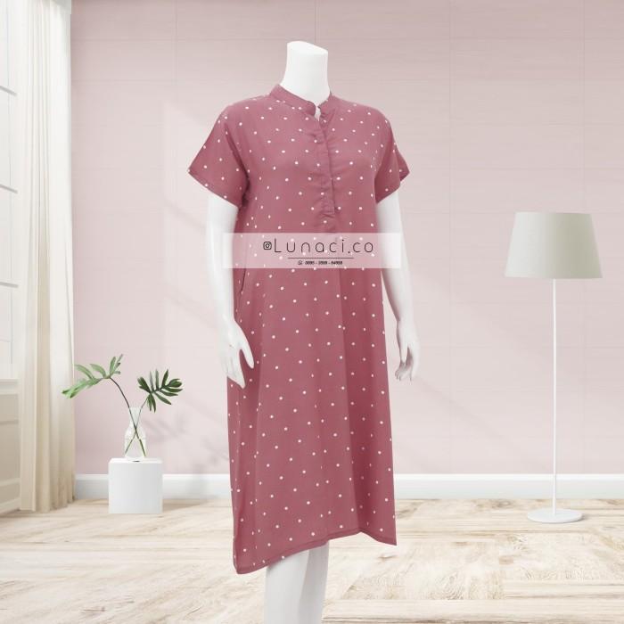Foto Produk Lunaci Pink Polkadot Home Dress - XL dari Lunaci