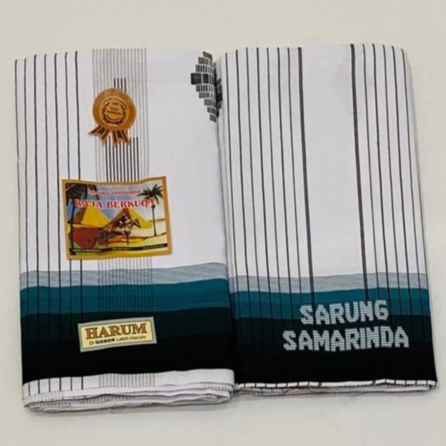 Foto Produk Sarung Samarinda Harum Raja Berkuda Putih Garis - Abu-abu dari indosarung