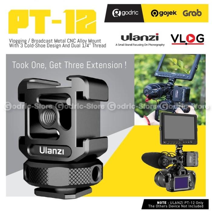 Foto Produk ULANZI PT-12 METAL 3 Hot Cold Shoe Mount Adapter Converter for Mic LED dari Godric Store