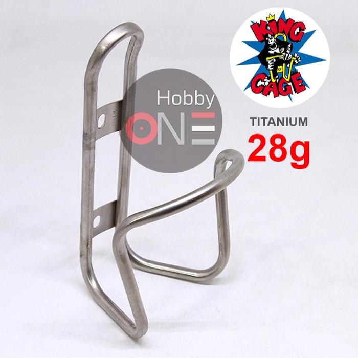 Foto Produk KING CAGE Titanium Cage - Botol Bottle Cage Bidon - Made in USA dari HobbyOne