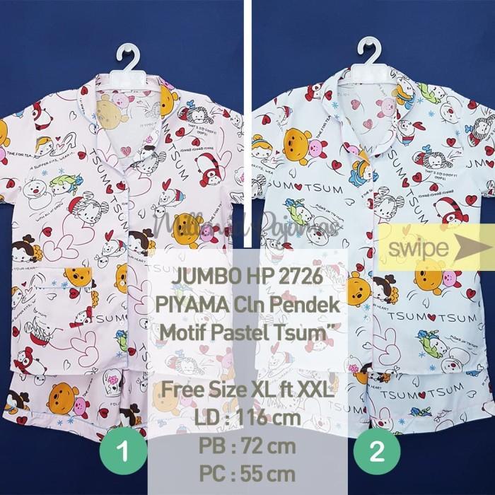 Foto Produk Set Baju Tidur XL-XXL Piyama Katun Celana Pendek JBHP 2723CD - Nomor 8 dari Millen Collection