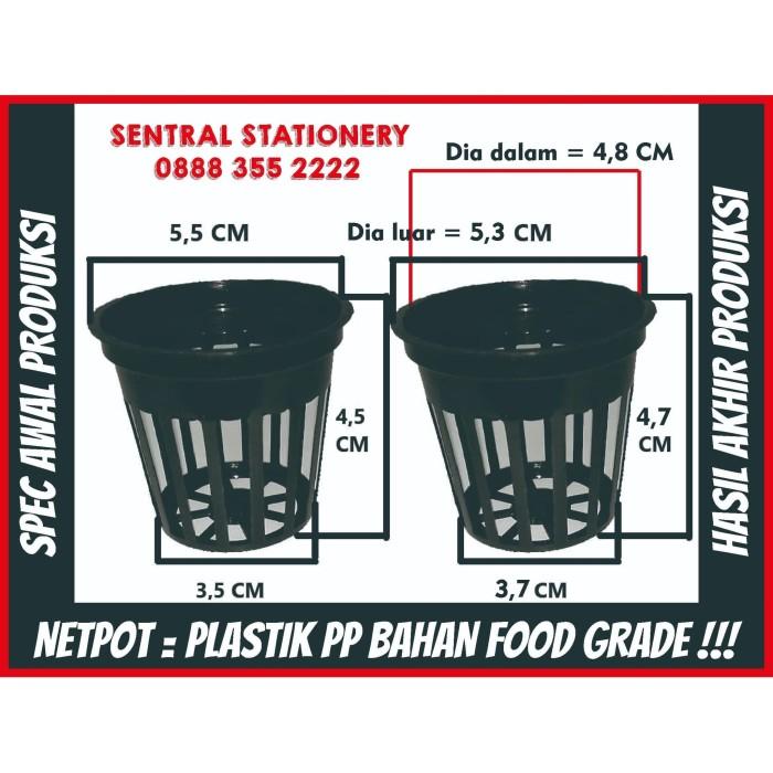 Foto Produk Netpot pot mini hidroponik jaring lubang 4,5 x 5,5 cm + sumbu flanel dari Sentral Stationery