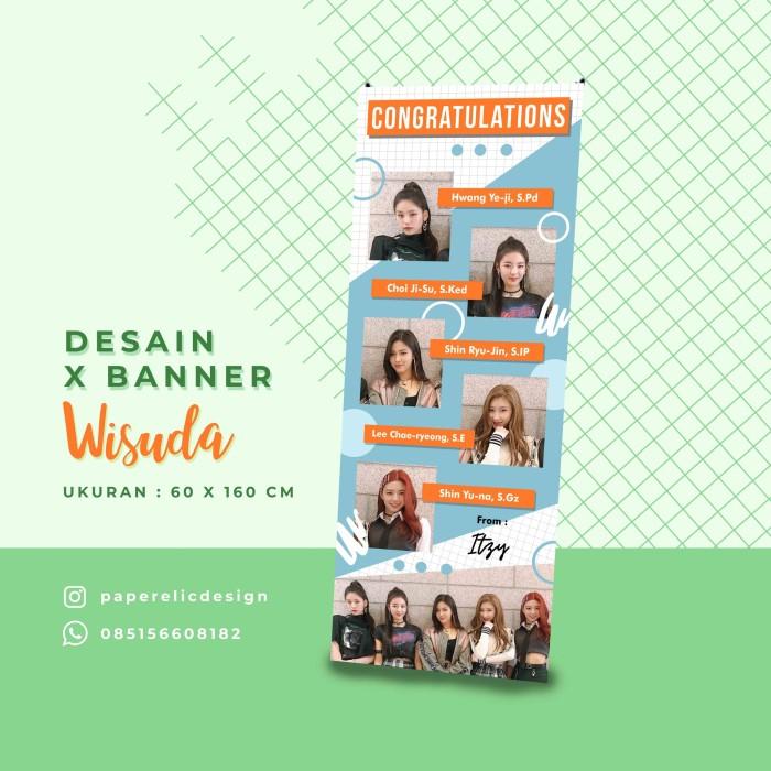 Jual Banner Wisuda Hijau Spanduk Wisuda Desain Banner Sidang Kado Wisuda Kab Magelang Paperelic Design Tokopedia