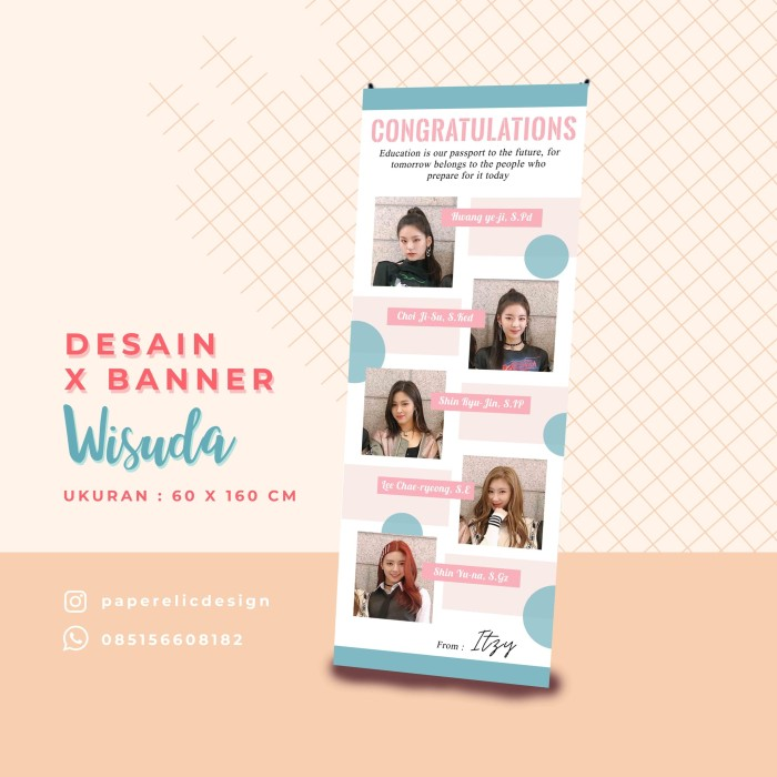 Jual Banner Wisuda Simpel Spanduk Wisuda Poster Wisuda Xbnner Sidang Kab Magelang Paperelic Design Tokopedia