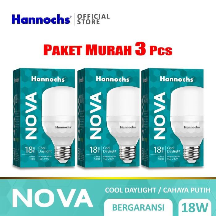 Foto Produk Hannochs Lampu LED Nova 18W Cahaya Putih ( PAKET 3pcs ) dari Hannochs Official Store