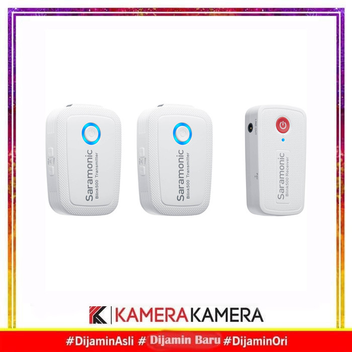 Foto Produk Saramonic Blink 500 B2 Dual-channel Wireless Omni Lavalier Microphone - Putih dari kamerakamera