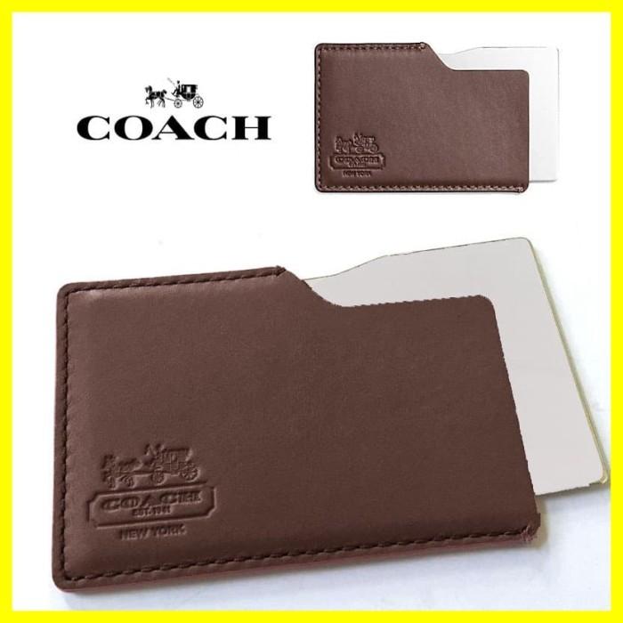 Foto Produk Coach Kaca Cermin Wallet Pocket Make Up Portable Stainless Mirror dari Iyesh Online Store