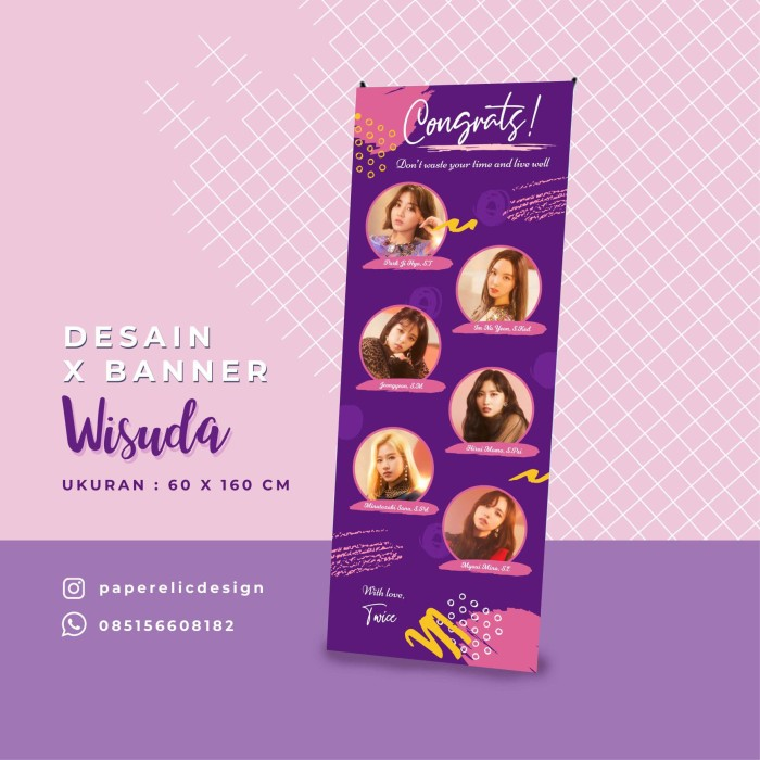 Jual Banner Wisuda Kelompok Xbanner Sidang Desain Banner Wisuda Skripsi Kab Magelang Paperelic Design Tokopedia