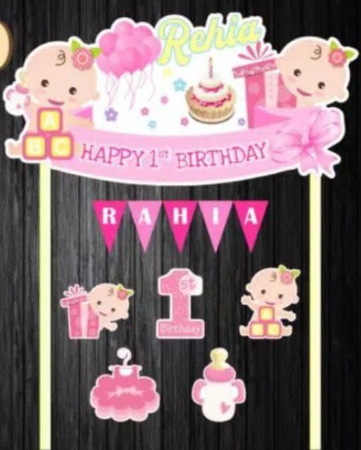 Jual Printable Birthday Cake Topper Jakarta Barat Lerangmarket Tokopedia