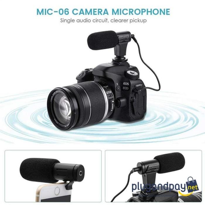 Foto Produk Camera DSLR Mirrorless Shotgun Handphone Smartphone Microphone 3.5mm dari plugandpay