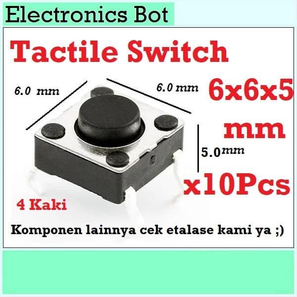 Foto Produk [EBS] Tactile Switch Push Button Saklar Tekan 6x6x5 mm Arduino Tombol dari Electronics Bot Store