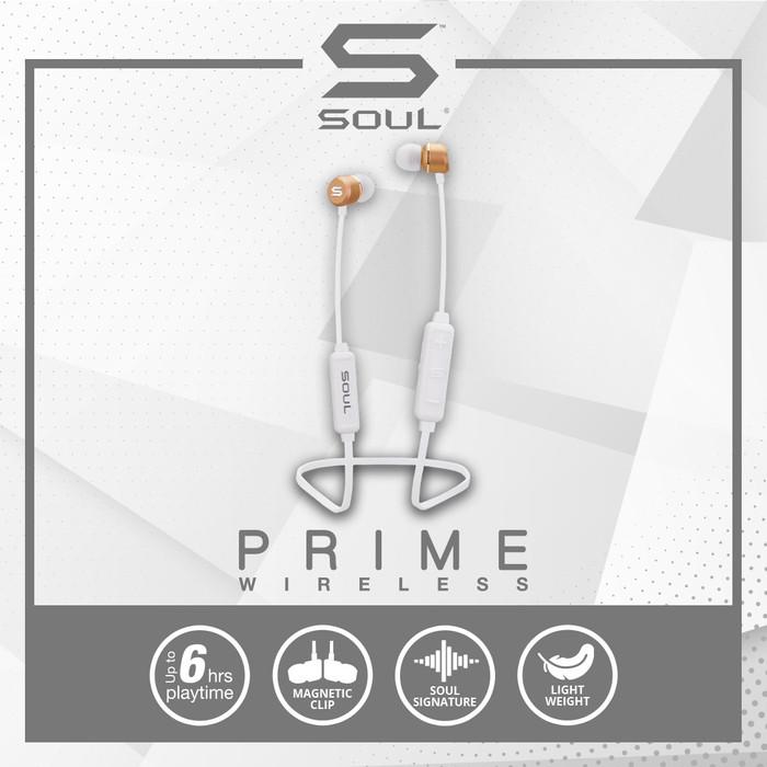Foto Produk SOUL Prime Wireless High Performance Earphones with Bluetooth - Putih dari Soul official