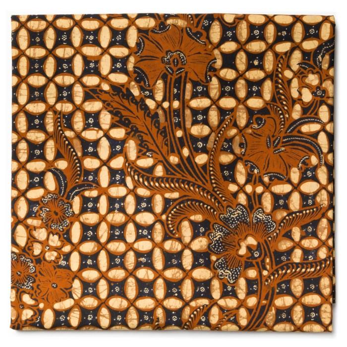 Foto Produk Kain Batik Tulis Sogan Klasik Motif Kawung Buketan dari Kainusa