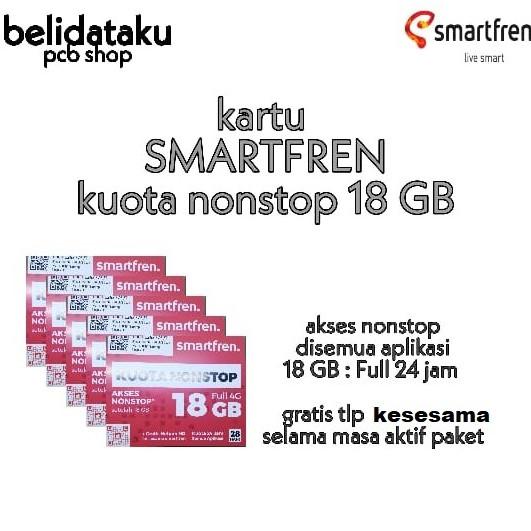 Jual Kartu perdana data SMARTFREN kuota nonstop 18 GB