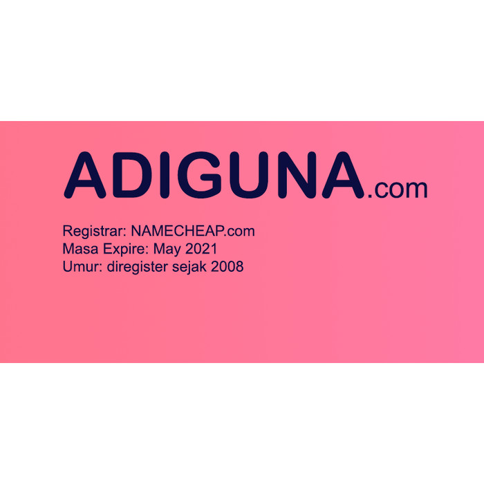 Foto Produk ADIGUNA.com - Nama Domain Dijual dari Pusat Domain