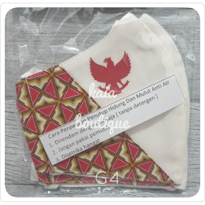 Foto Produk Masker Batik Keris Garuda Merah Putih Custom dari Kaia Boutique