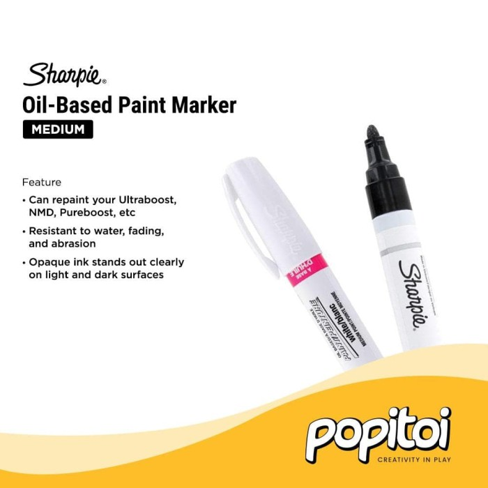 Foto Produk Sharpie Oil-Based Paint Marker White Medium Point - Sharpie Only dari Popitoi