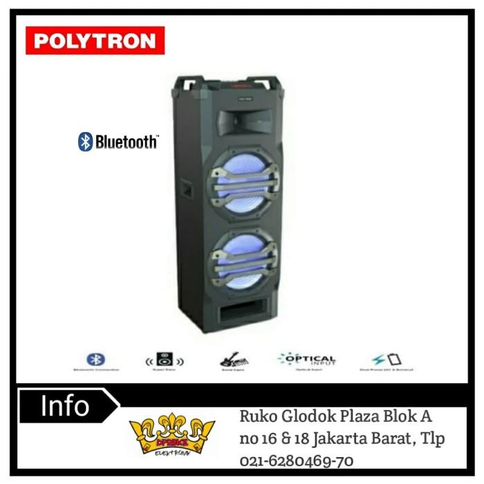 Foto Produk POLYTRON PORTABLE SPEAKER PTS2K25/PTS 2K25 Bluetotth +Mic Wireless 2pc dari DPRINCE