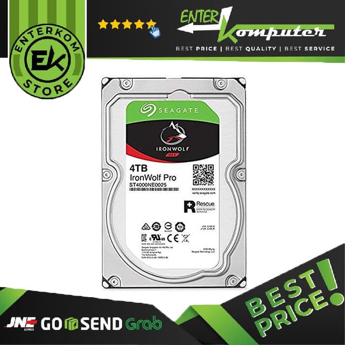 Foto Produk Hardisk Seagate 4TB For NAS - IronWolf Series dari Enter Komputer Official