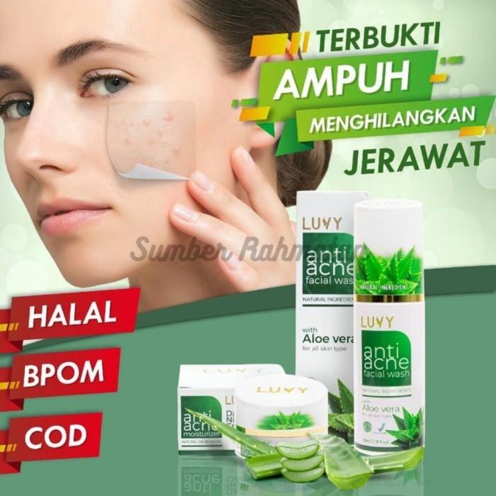 Jual Skin Care Herbal Terbaik Untuk Menghilangkan Jerawat Anti Acne Luvy Jakarta Timur Sumber Rahmatan Tokopedia