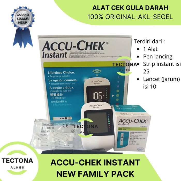 Foto Produk Accu Chek Instant + 25 Strip + 10 Lancet Alat Gula Darah Accu Check dari TectonaAlkes