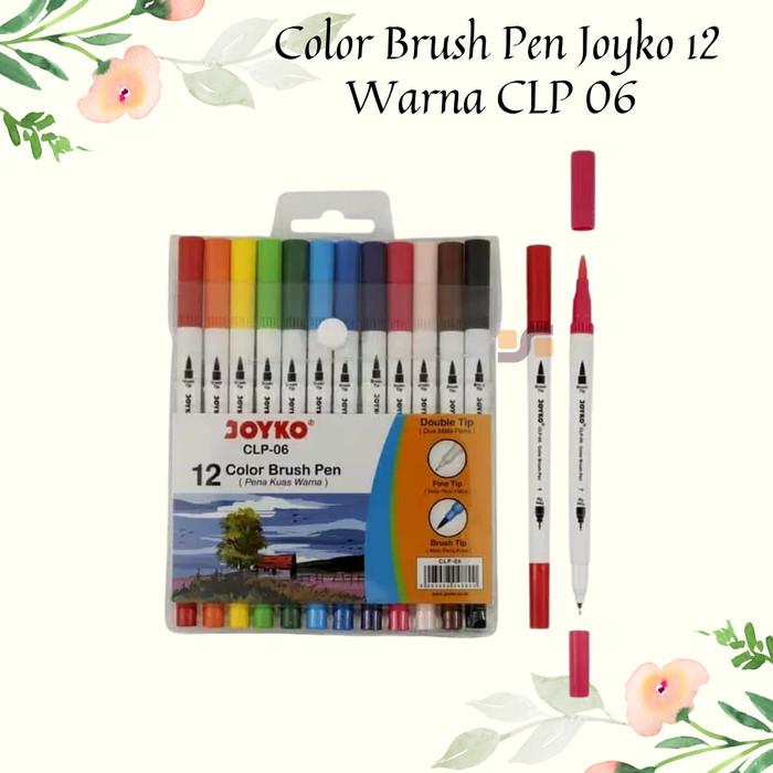 Foto Produk Color Brush Pen Joyko 12 Warna CLP 06 Harga Grosir ATK Terdekat 2020 dari safanabiz