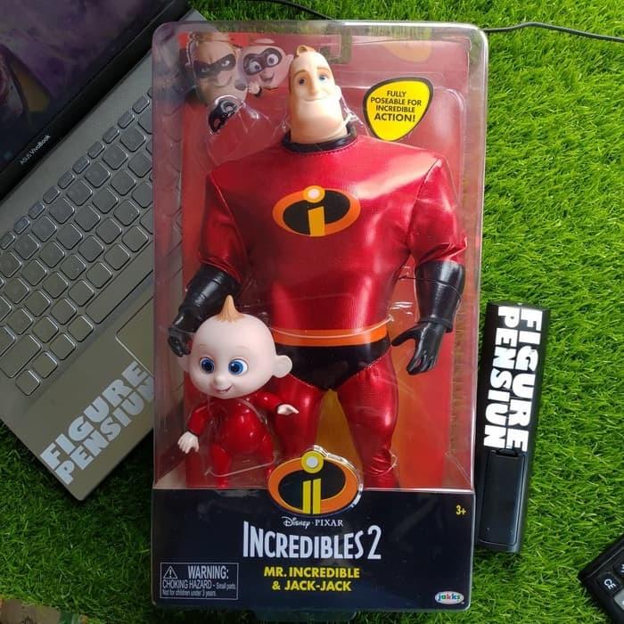 Jual Jakks Disney Pixar The Incredibles 2 Mr Incredible Jack Jack Figure Kab Bandung Figure Pensiun Tokopedia
