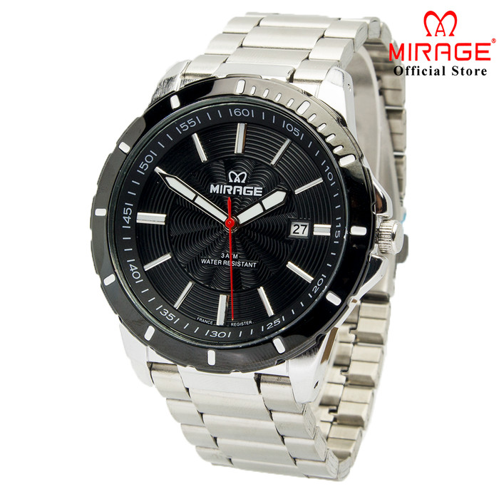 Foto Produk Mirage Terbaru Jam Tangan Pria Mirage Original Silver 8549M pP - Putih dari Mirage Watch