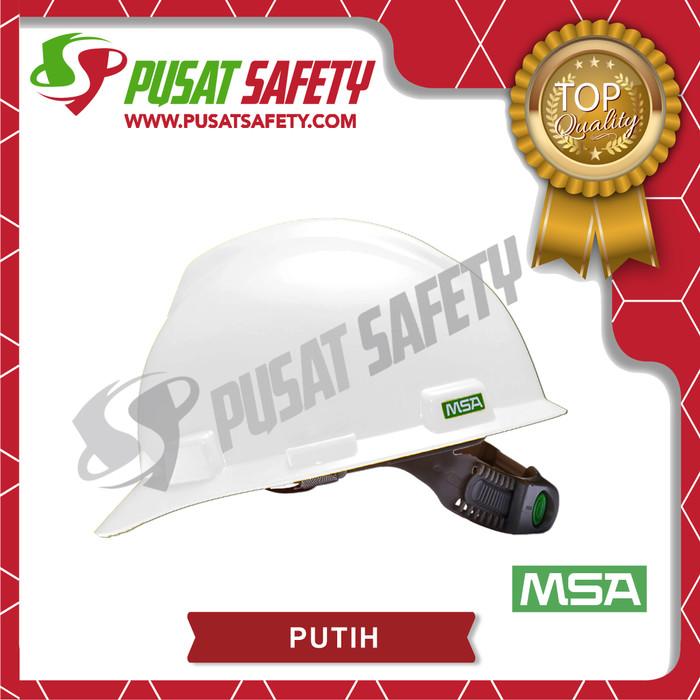 Foto Produk Helm Proyek Kerja Safety MSA V-Gard Original with Fas-Trac® - Putih dari Pusat Safety Online
